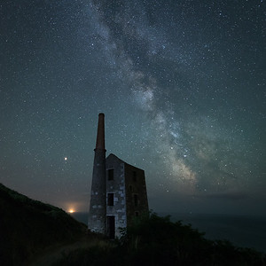 The Milkys Way Galactic Core over Wheal Prosper Tin Mine, Cornwall - 3