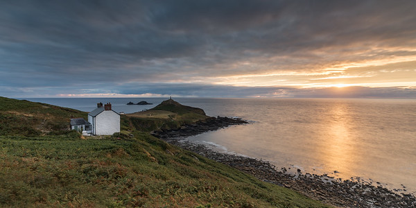 Sunset on the White Cottage at Cape Cornwall - 2