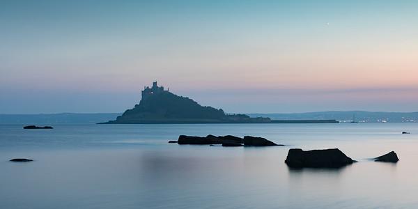 Twilight long exposure at St Michaels Mount