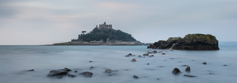 Causeway Dusk at St Michaels Mount (Panoramic)