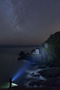 Light Painting The Crowns Tin Mine at Botallack