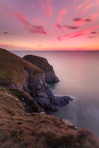 Sunset At Bedruthan Steps, Cornwall