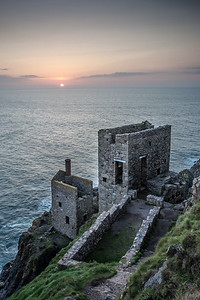 The Crowns Engine Houses at Sunset (Botallack)