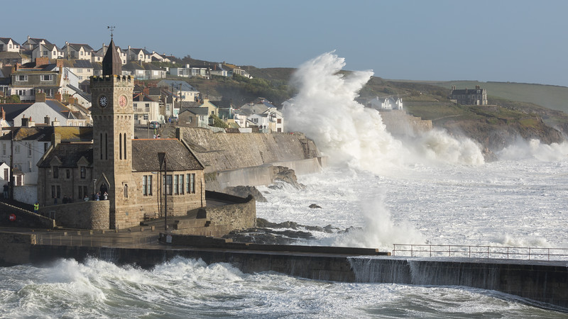 Storm Ophelia hits the town of Portleven Cornwall - 5