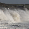 Storm Ophelia hits the town of Portleven Cornwall - 2