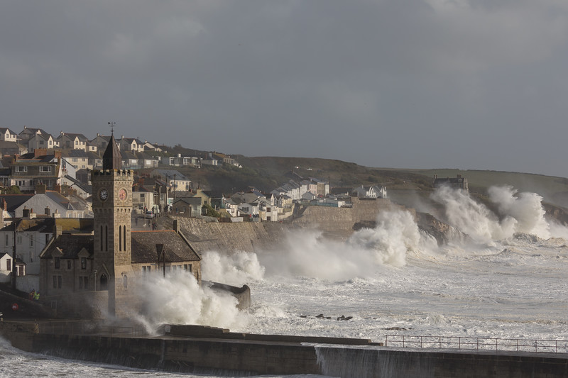 Storm Ophelia hits the town of Portleven Cornwall - 1