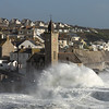 Storm Ophelia hits the town of Portleven Cornwall - 4