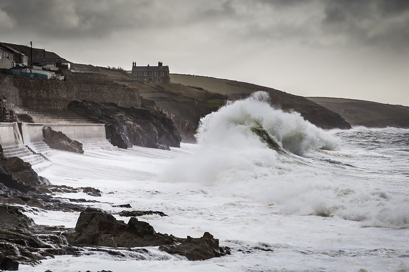 Winter storm at Porthleven, Cornwall
