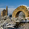 Wheal Peevor on a snowy morning