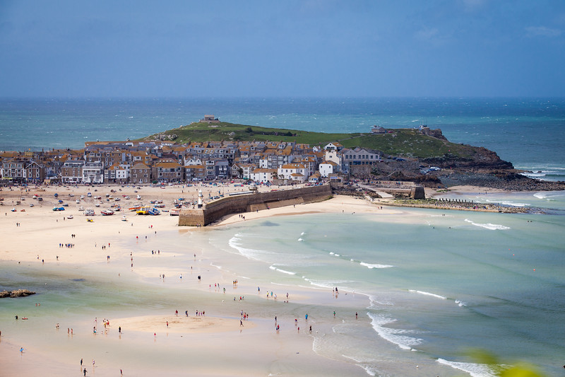 St Ives, Cornwall sunshine and showers