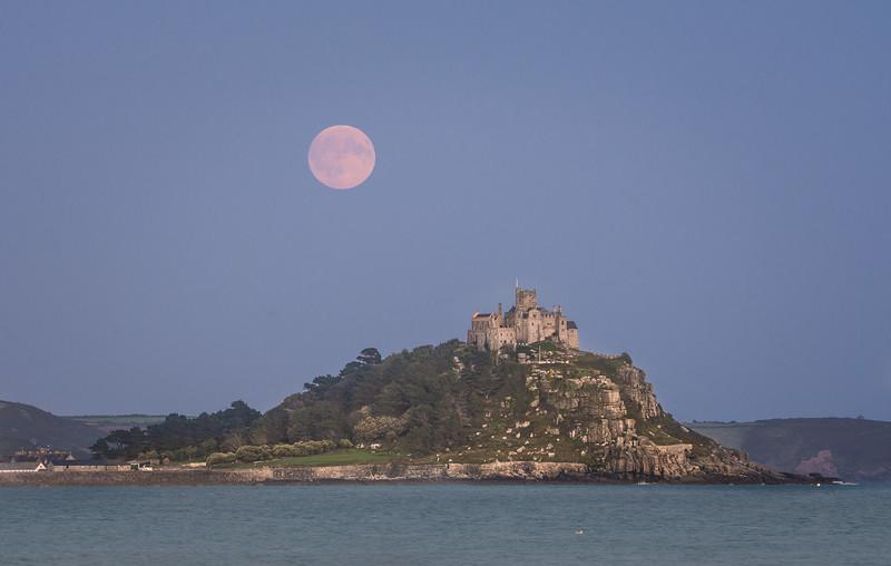 St Michaels Mount Moonrise
