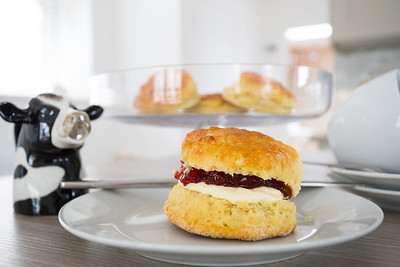 Jam and cream scone