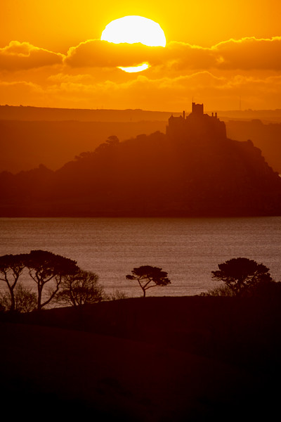 Sunrise over St Michael's Mount, Cornwall, UK