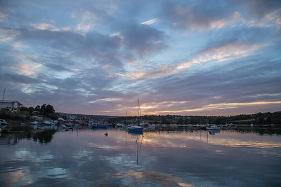 After sunset on the Penryn River