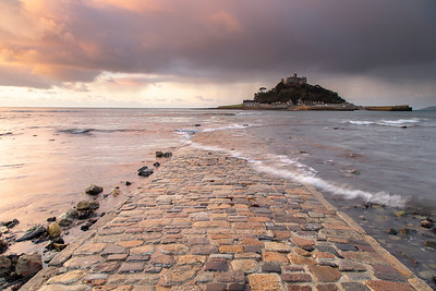 St Michael's Mount from stone causeway