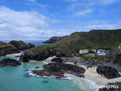 The Beach at Kynance Cove in Cornwall, England
