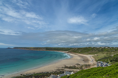 The sweep of Whitesand Bay from Sennen Cove