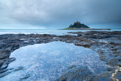 St Michael's Mount from reflecting pool