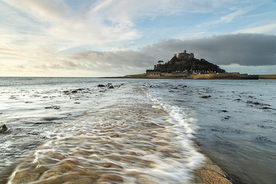 St Michael's Mount with causeway awash