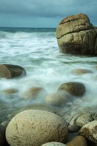 Porth Nanven rocks awash