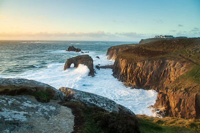 Land's End at sunset