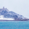 St Michael's Mount under snow