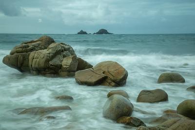 Porth Nanven at high tide