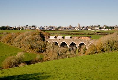 66158 6C41 1424 Burngullow-Exeter at Cartuther Barton