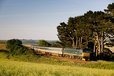 170606 57605 with the Padd-Penz sleeper passes Trerulefoot