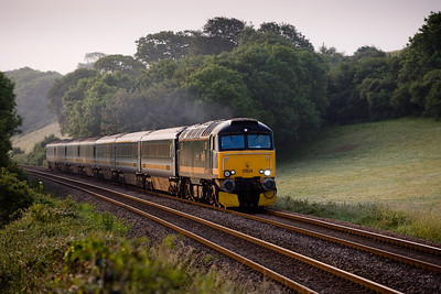 010706 57604 with 1C99 23:50 Paddington-Penzance sleeper at Trerulefoot