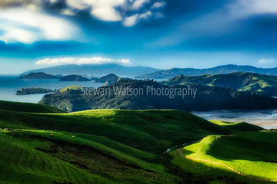Ethereal views of The Coromandel Coastline in New Zealand