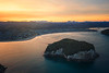 Clark Island Aerial Sunset - Single