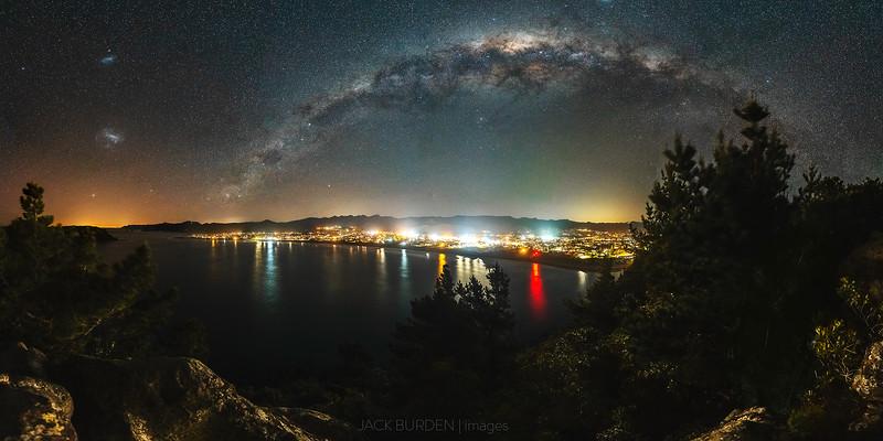 Whangamata Milky Way Panorama
