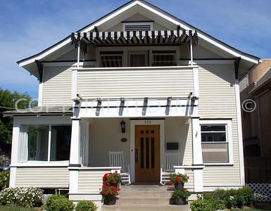 """576 """"E"""" Avenue, Coronado, CA; Circa 1892 Foursquare Style"""