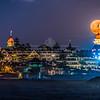 Full Honey Moon Rising Over The Hotel Del