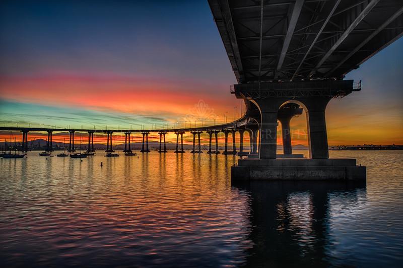 Coronado Bridge Pre Sunrise