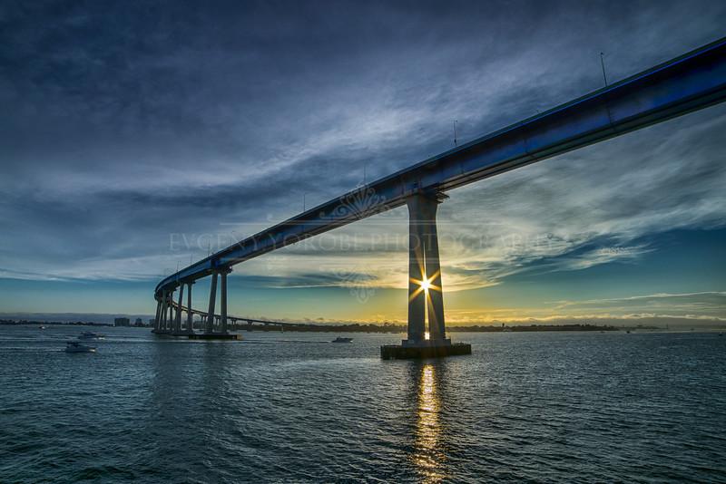 Coronado Bridge at Sunset