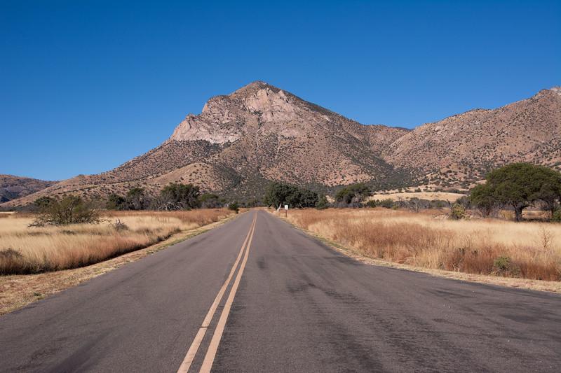 Entrance road, Coronado National Memorial