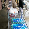 Many are rushing to the supermarkets to stock up during the coronavirus emergency on Friday, March 13, 2020. David Godin, 72, at the Market Basket on John Fitch in Fitchburg. SENTINEL & ENTERPRISE/JOHN LOVE