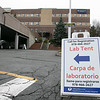 UMass Memorial HealthAlliance-Clinton Hospital in Leominster has set up a tent outside in the parking garage to test for the coronavirus. This is a test only after you have talked to your primary care physician and they given you a note to have the test done. Signs in the hospitals driveway point you in the right direction to the test tent. SENTINEL & ENTERPRISE/JOHN LIOVE