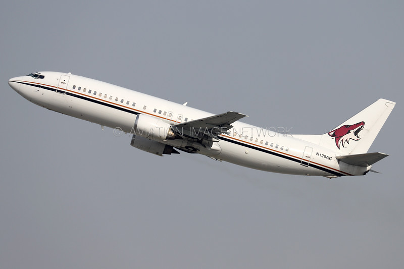 N129AC | Boeing 737-4Q8 | Juliet Romeo Aviation (Arizona Coyotes)