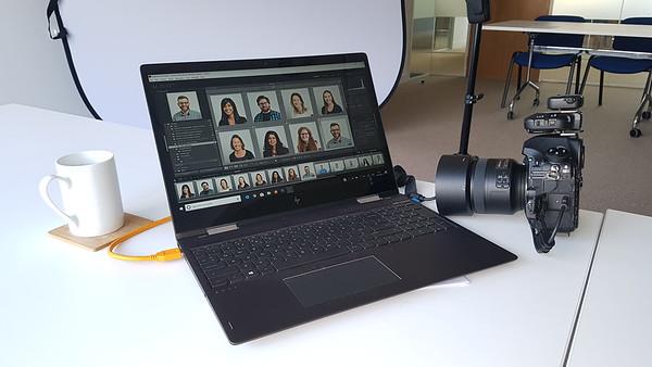 Mobile studio on-location setup example