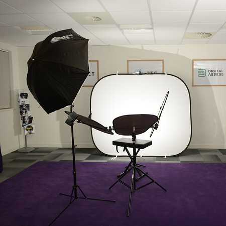 Mobile studio on-location setup example