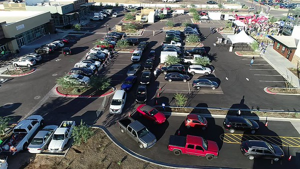 Drone video of White Castle Drive Through Line