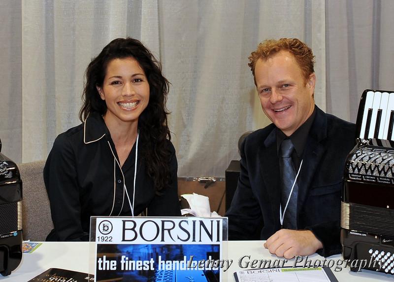 Jeffrey Iacono of Borsini Accordians, USA (with his wife)