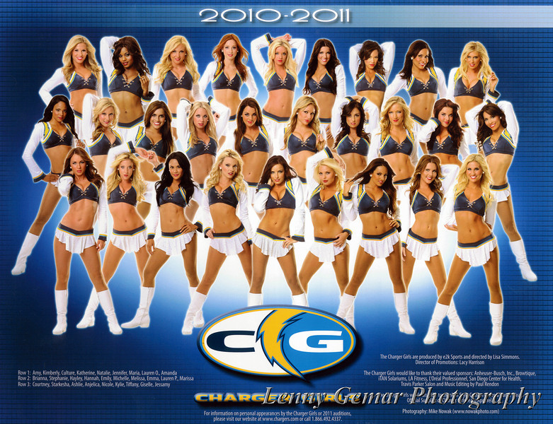 Charger Girls Photo - 2010/2011<br /> From the Blood Drive Program.<br /> Photo by Mike Nowak.