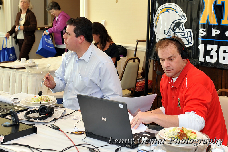 XTRA Sports 1360 broadcast remote, featuring Ben Higgins and Chris Ello