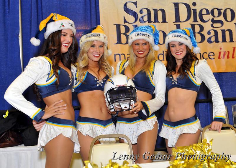 Ho, Ho, HO! Charger Girls getting into the Christmas spirit.