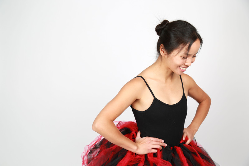 Weiwei in her favorite ballet outfit