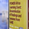 POWER Africa Learning Event: Dissemination of Findings and Lessons from CARE in Kigali, Rwanda on May 25, 2018